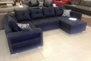 u formájú kanapé