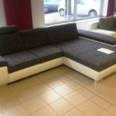 Króm lábak sarokkanapé kanapé