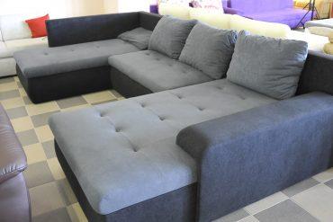U-alakú, ágyazható kanapé
