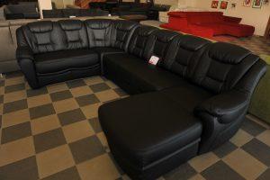 Belivine bőr U-alakú kanapé